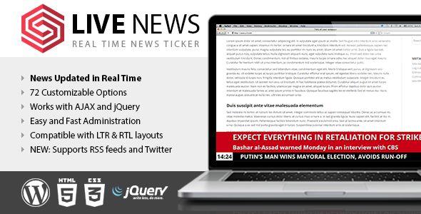 Live News v2.08 - Real Time News Ticker