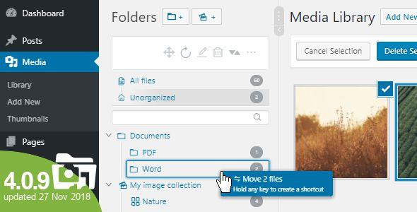 WP Real Media Library v4.0.9 - Media Categories / Folders