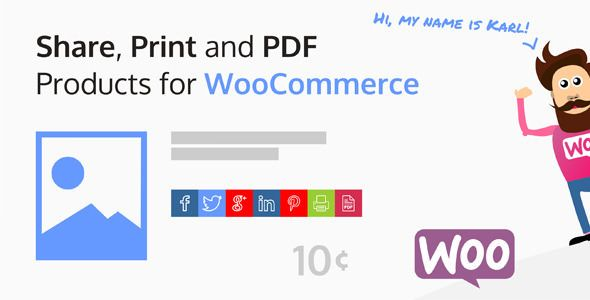 Share, Print And PDF Products For WooCommerce v2.0.2