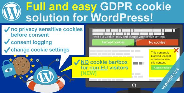 WeePie Cookie Allow v3.2.6 - Easy & Complete Cookie Consent