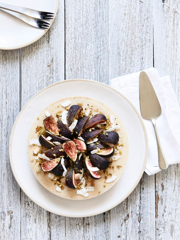 coconut fig pistache cheesecake by The Design Files