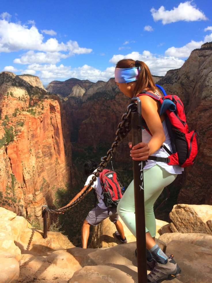 Climb down from Angels Landing
