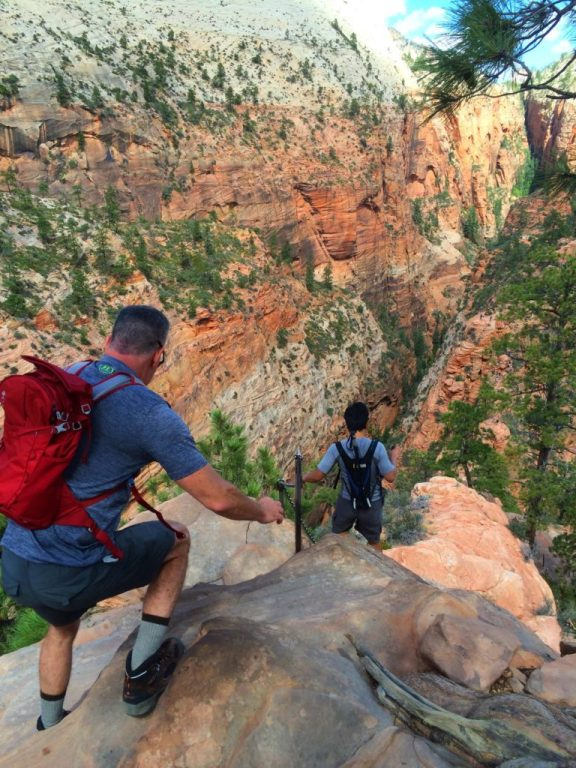 Angels landing scary trail