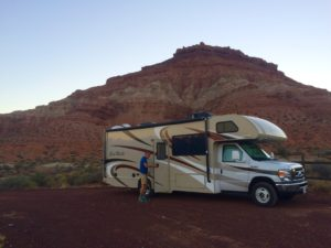 Our RV for the week. Parked at a beautiful BLM campsite.