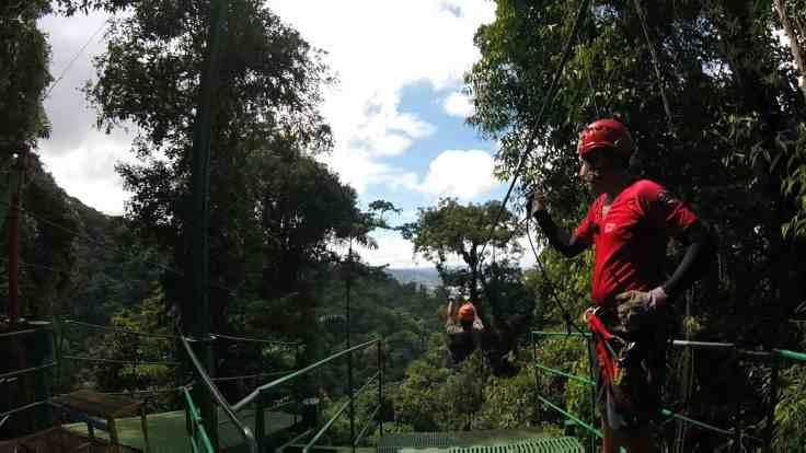 zip line near Arenal volcano