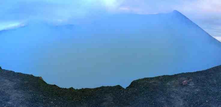 the smoking cauldren of Telica Volcan