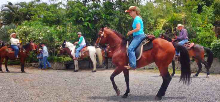 starting the ride for the Cabalgata