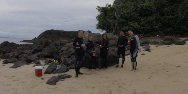 Toshi, Alberto, Tosha, Trin, Jenifer in Coiba