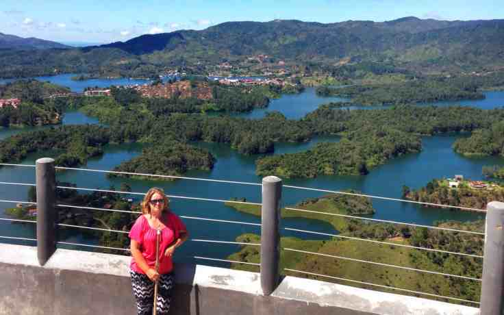 View of Guatape Colombia