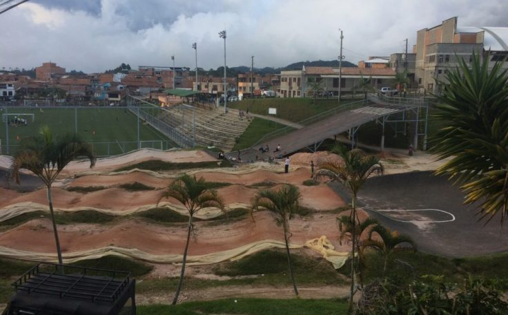 BMX park in Guatape Colombia