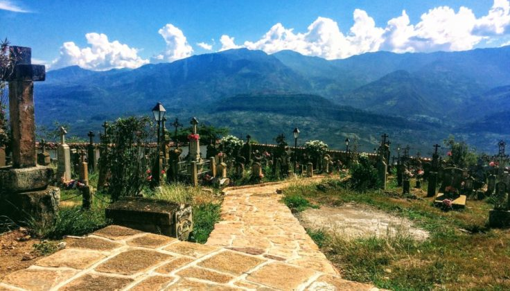 Cemetery in Guane near San Gil