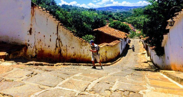 Street in Guane near San Gil