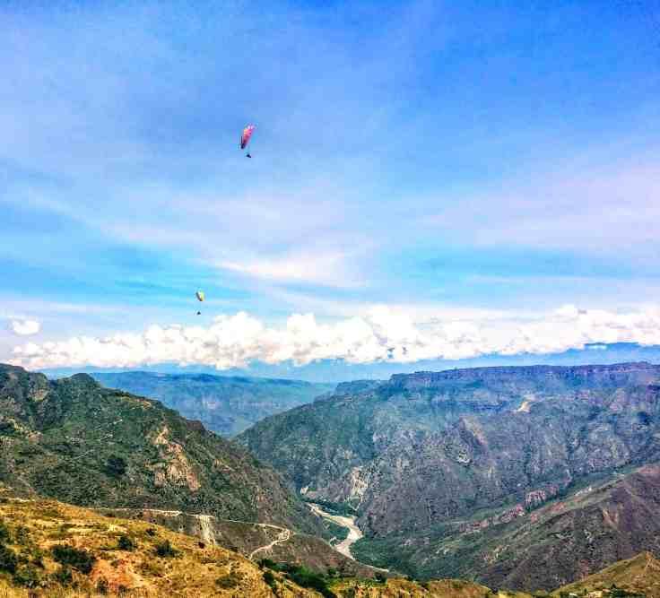 Paragliding near San Gil