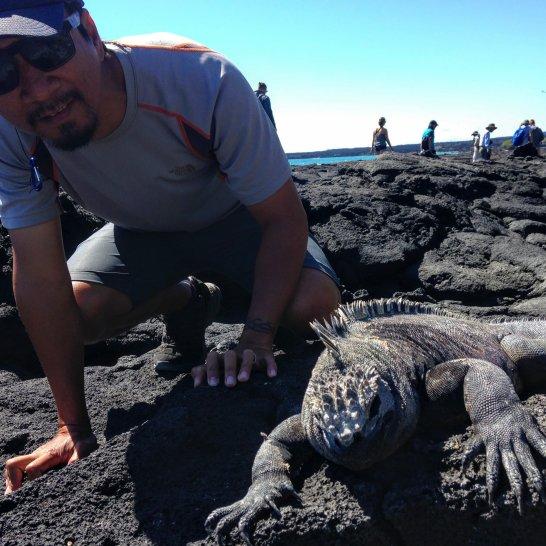 Marine Iguana and Trin