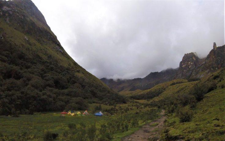 Paria Camp on the Santa Cruz Trek
