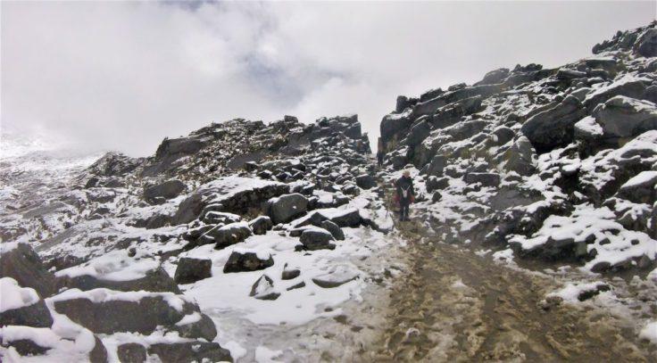 Punta Union Pass on the Santa Cruz Trek