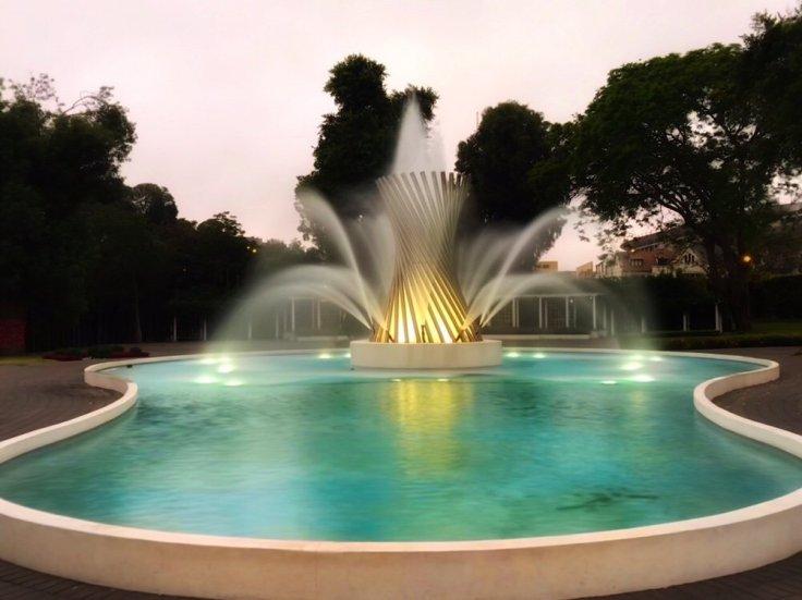 Fuente de la Vida (Fountain of Life) in Circuito Mágico del Agua Christmas in Lima Peru