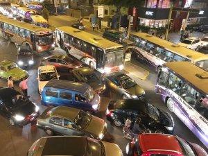 Traffic Jam in Lima Peru