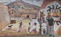Mural depicting Peru History an ancient society