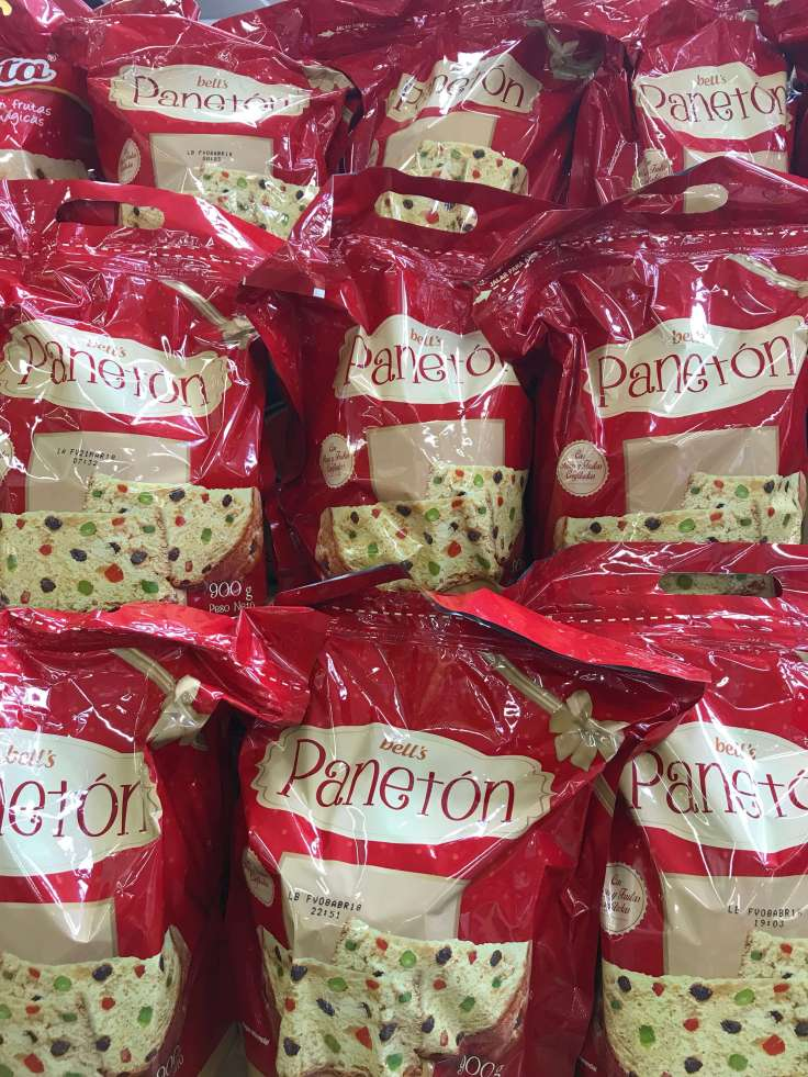 Paneton for Christmas in Lima Peru