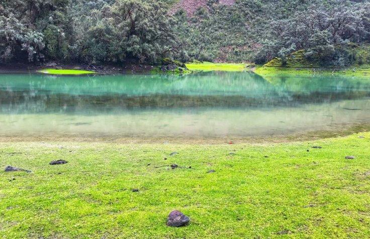 Pond on the Santa Cruz trek