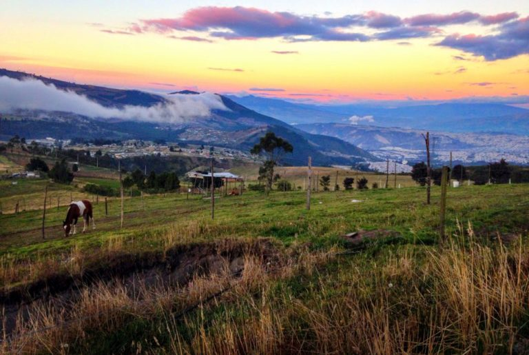 Quito Sunset from Dunamis Foundation