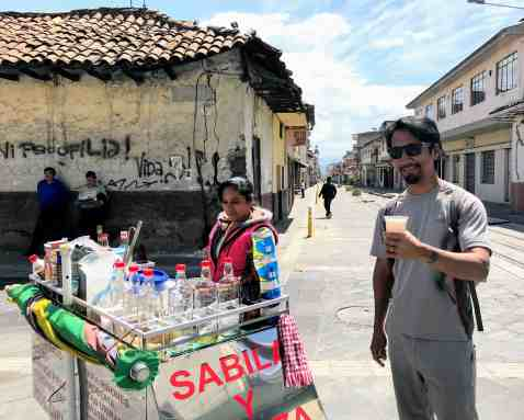 Aloe drink in Cuenca things to do in Ecuador