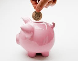 piggy bank save for financial freedom