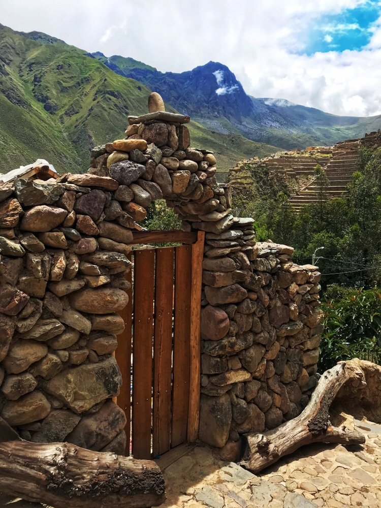 Stone gate in Ollantaytambo in the Sacred Valley