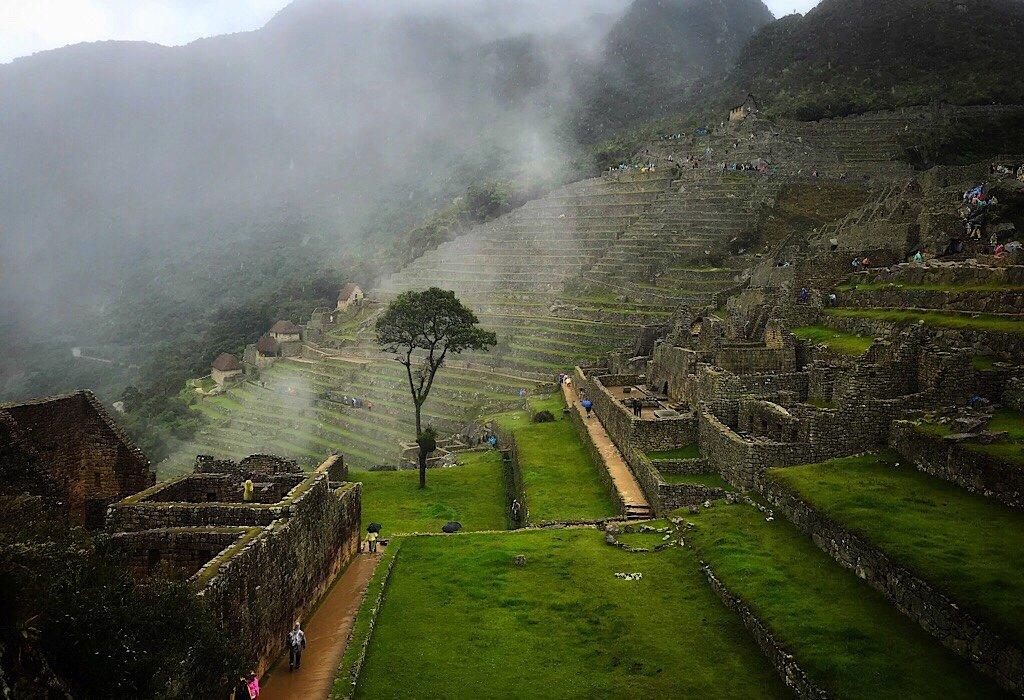 Ancient Inca Ruins of Machu Picchu