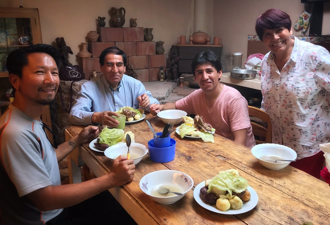 Meal of Puchero in the Sacred Valley