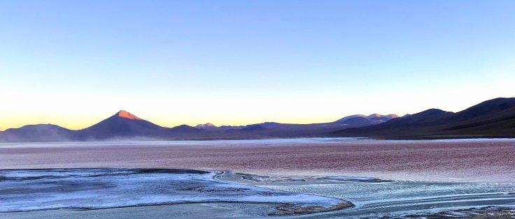 Laguna Colorada outside the Uyuni Salt Flats
