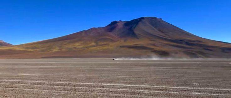 Truck outside Uyuni Salt Flats