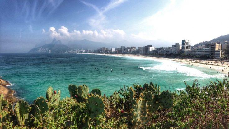Ipanema Beach a stop while biking in Rio