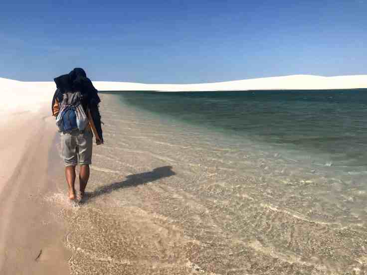 Clear water of Lençóis Maranhenses National Park the Most beautiful place in the world