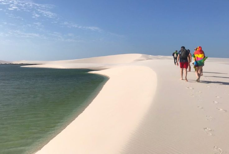 Walking through Lençóis Maranhenses National Park the Most beautiful place in the world
