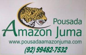 Business card for our Amazon Jungle tour. Pousadaamazonjumma.com
