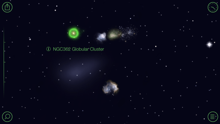 Screen shot of the Star Walk app showing the Globular Cluster