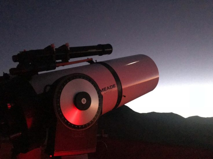 One of the telescopes in the Pangue Observatory in Elqui Valley