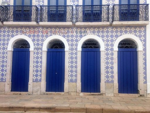 Blue Door in Brazil representing being Ready to seize opportunity