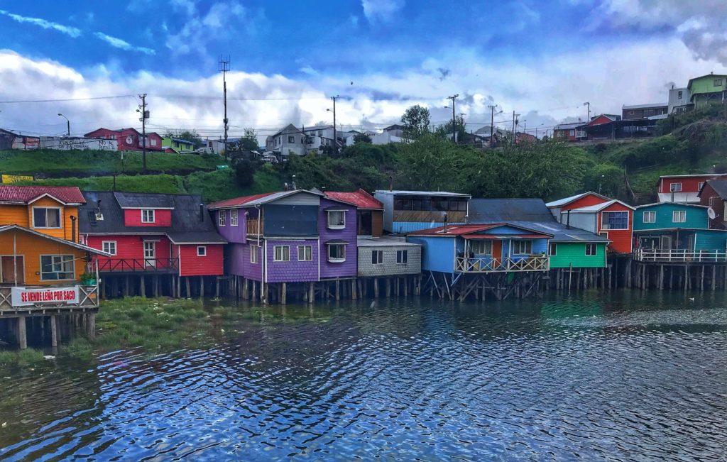 Stilt homes in Chiloe Chile