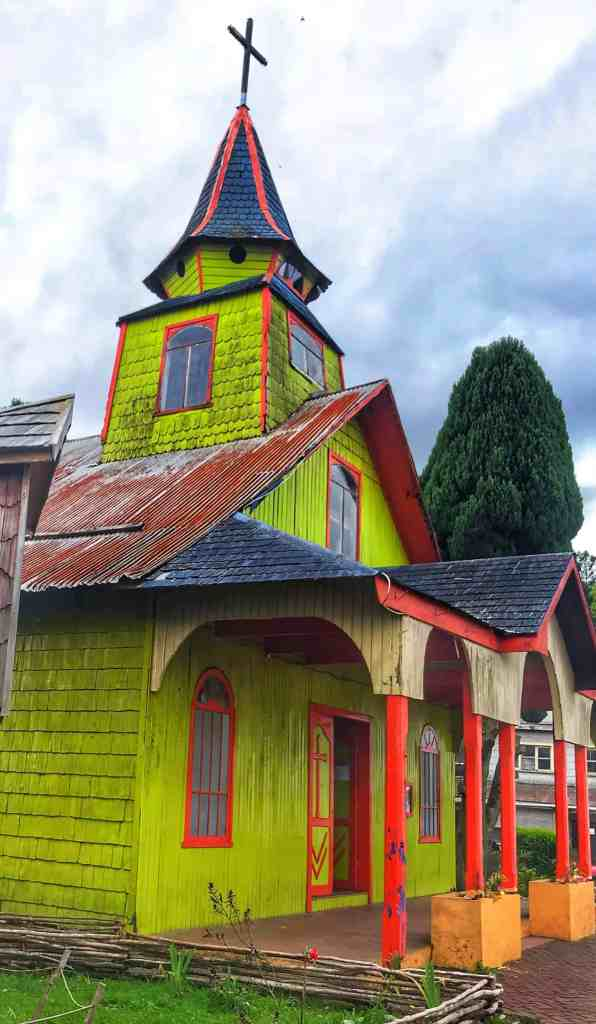 Church in Quenchi Chiloe Chile