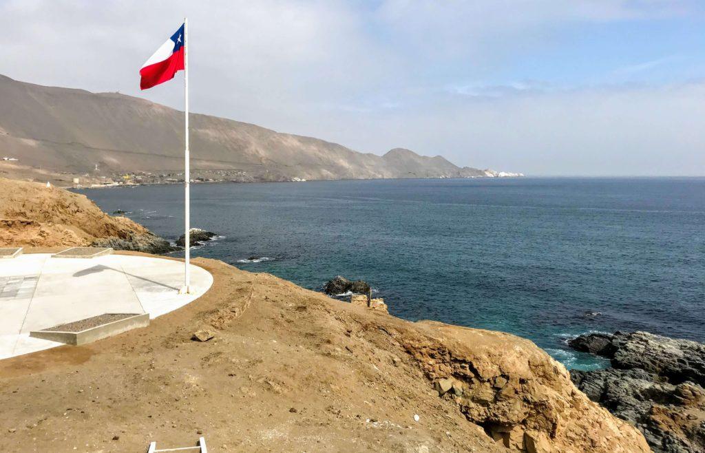 Flag at Pisagua Memorial