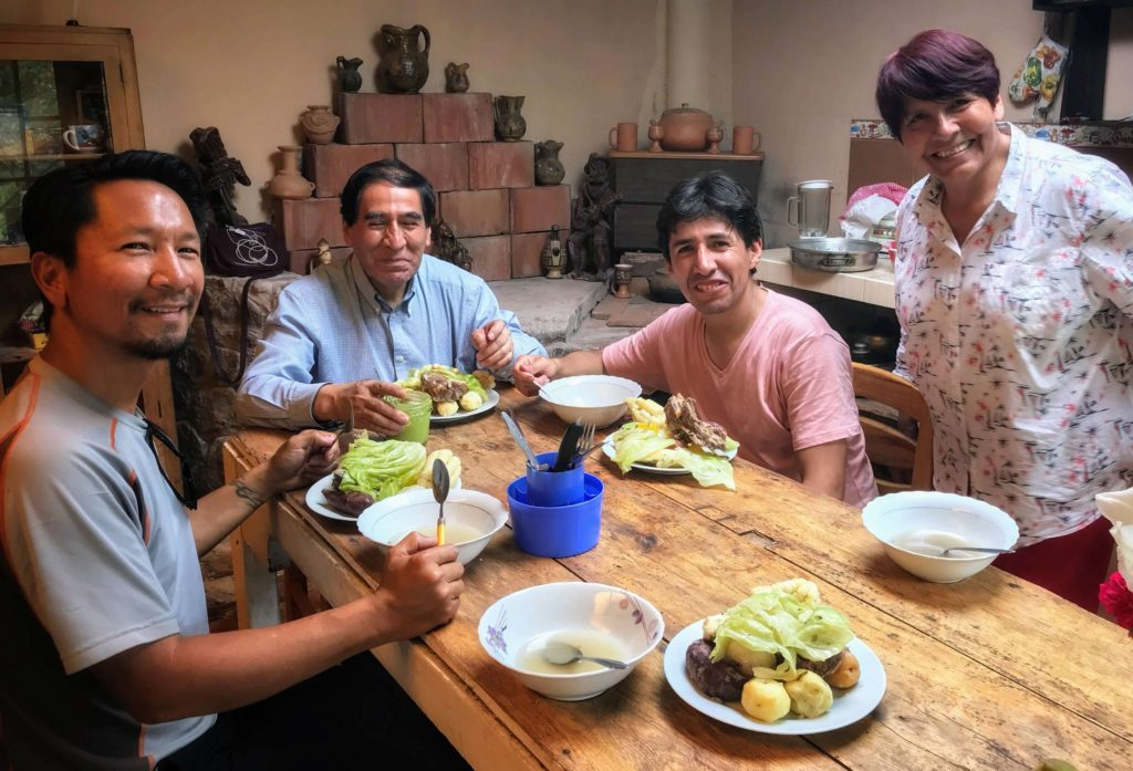 Holiday Traditional meal in Peru
