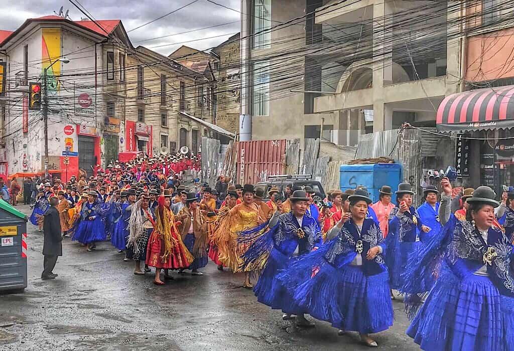 Parade in La Paz Bolivia
