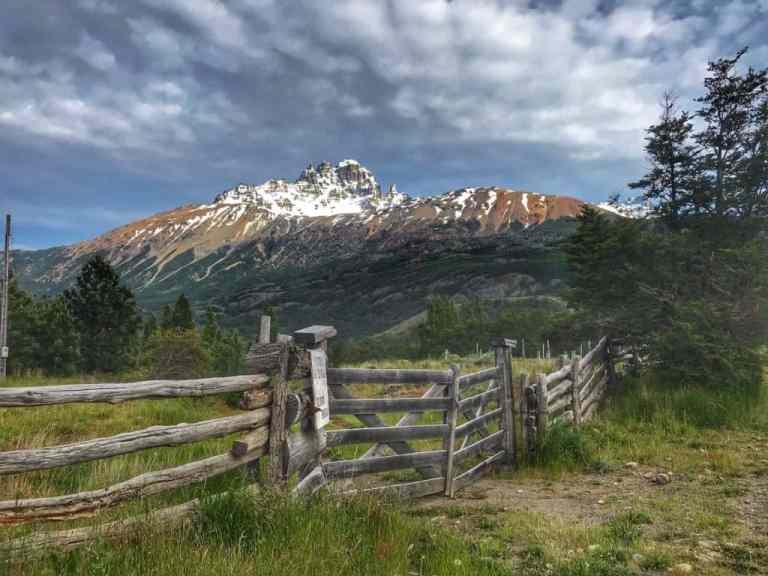 Heading toward the jagged peaks of Cerro Castillo in the distance