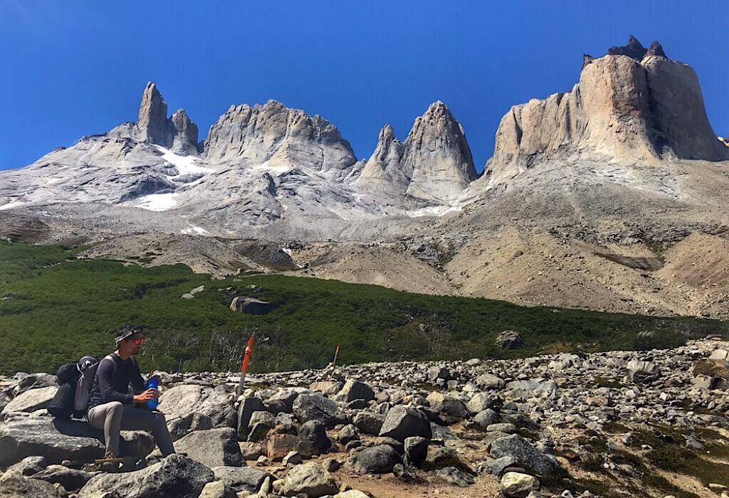 Another view of cupcake mountain in Torres del Paine
