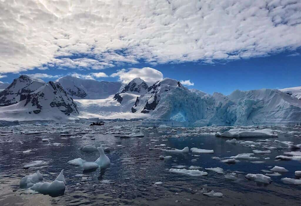 Sea Ice and Icebergs in Antarctica