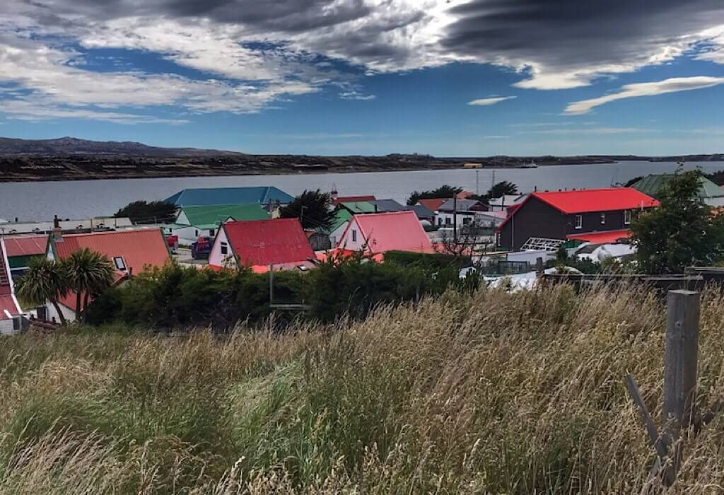 Colorful homes on Stanley Island, the capital of the Falkland Islands
