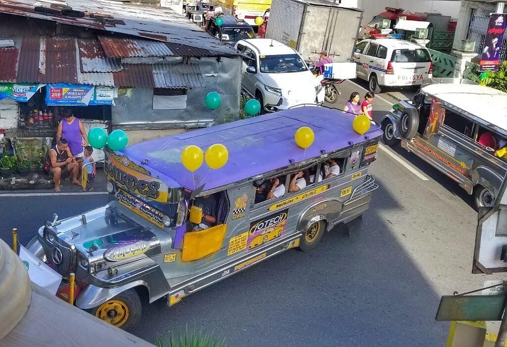 Jeepney on a Philippine Street